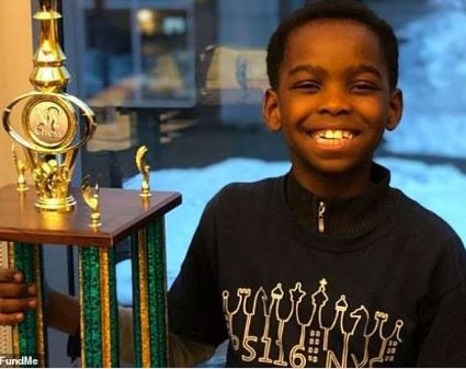 Eight-year-old Nigerian wins chess championship in New York.