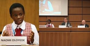 Nigeria's 11-Year-old Naomi Oloyede Gets Standing Ovation In Vienna After Speech On Corruption.