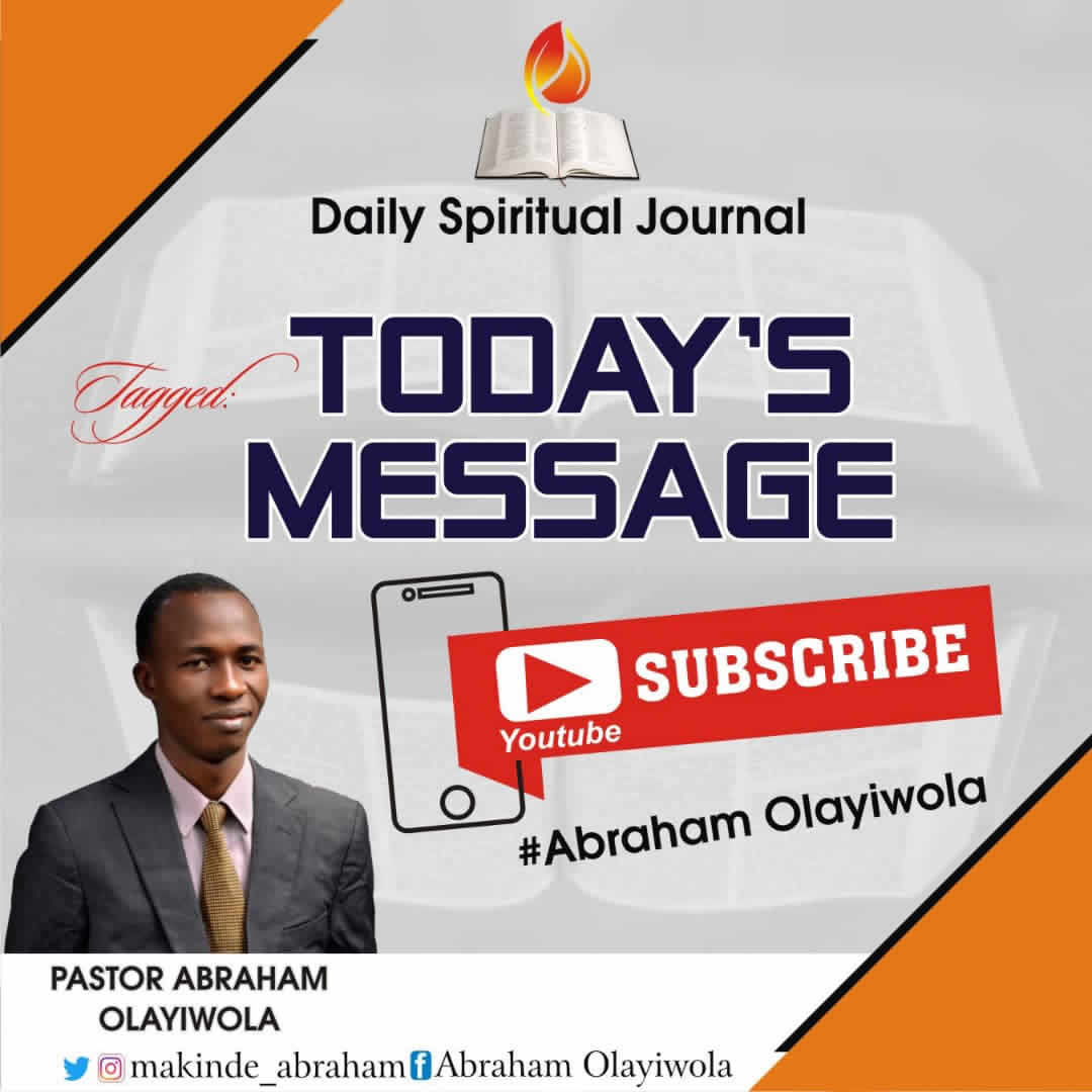 daily spiritual journal by abraham olayiwola