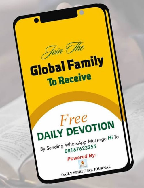 daily devotion by Abraham Olayiwola